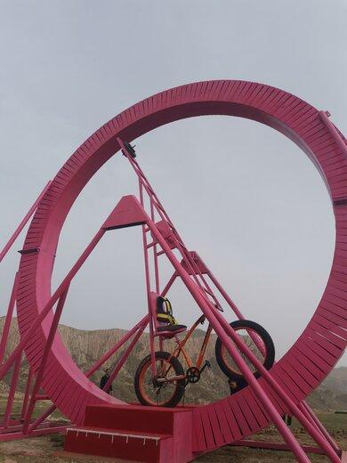 秀山生产360度旋转自行车,无动力旋转自行车