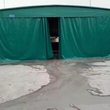 上海推拉倉庫棚尺寸,物流倉庫移動推拉棚圖片