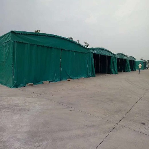 海南室外倉庫棚質量可靠,物流倉庫移動推拉棚