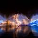 喷泉水幕投影图