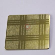 深圳高檔家居裝璜高比不銹鋼專業定制不銹鋼蝕刻板圖片