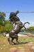 靠譜動物不銹鋼雕塑-企業形象標志,彩色鏤空不銹鋼雕塑