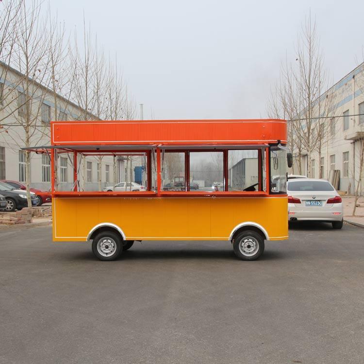 房山进口流动美食车款式齐全,手推餐车