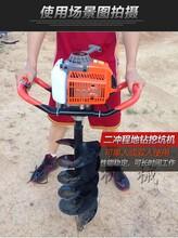 小型汽油便携式挖坑机,两冲程挖坑机图片