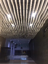環保室內木紋波浪造型鋁天花廠家直銷圖片