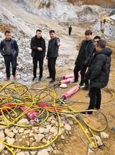 蘇州開挖頂管管道液壓分石機價格,石頭分裂機圖片