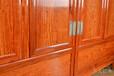 青島王義紅木紅木衣柜頂箱柜不開裂,緬甸花梨頂箱柜