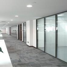 美隔铝合金玻璃隔断,深圳新款铝合金雾化玻璃调光玻璃隔断质量可靠图片