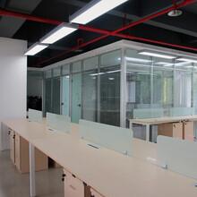 深圳南山生产百叶高隔断办公室铝合金高隔断款式新颖,办公高隔断图片