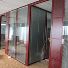 鋼鋁結構隔斷鋼鋁玻璃隔斷,深圳辦公內鋼外鋁百葉隔斷性能可靠圖片