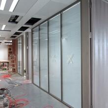 鋁合金隔斷玻璃百葉隔墻,深圳福田制造辦公室玻璃百葉隔墻售后保障圖片