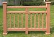 德陽塑木欄桿型號,木塑欄桿