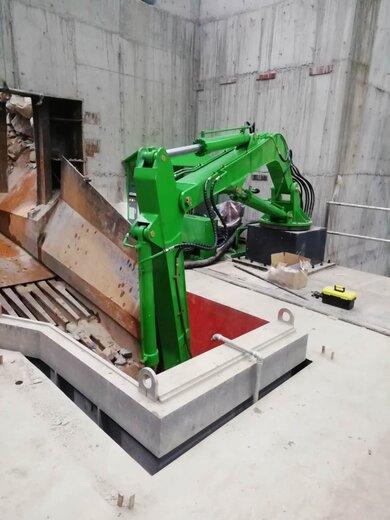 昆明固定式無線搖控式液壓破碎機,固定式碎石機