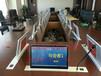 最先进新款长有品牌桌面隐藏式一体机翻转电脑终端机超薄翻转器铝合金拉丝面板
