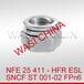 NFE25411双开槽锁紧螺母ESL
