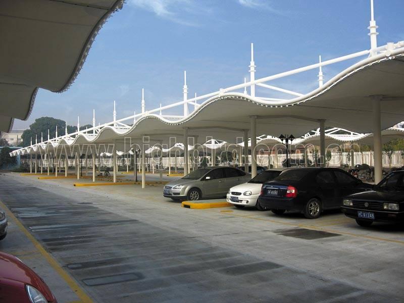 网球场膜结构遮阳棚大跨度体育设施张拉膜篮球场雨棚