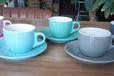 酒店餐饮陶瓷用品陶瓷杯马克杯咖啡杯色釉杯色口色把杯乐扣保温杯