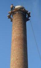 兰州混凝土烟囱拆除,专业烟囱拆除,高空烟囱拆除,锅炉烟囱拆除图片