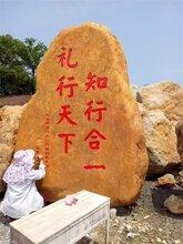 广东天然黄蜡石刻字黄腊石园林石风景石自然景石产地直销批发