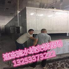 郑州速冻流水线生产厂家浩瀚饺子速冻流水线输送设备
