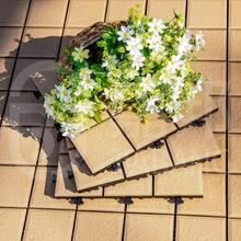 佛山格利扣陽臺戶外防水拼接式瓷磚地板300300mm地板INJB5014B1批發直銷圖片