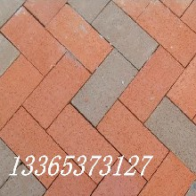 平邑聊城路面花砖透水砖面包砖盲道砖广场砖井字砖图片