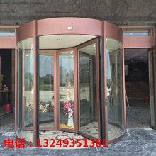 石家庄旋转门安装镀铜旋转门价格两翼旋转门宏远门业图片