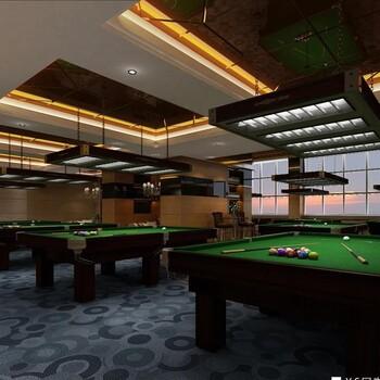 北京台球会所装修公司台球会所设计