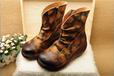 广州真皮女鞋工厂批发生产外贸休闲手工复古原创民族风森女个性文艺女鞋女靴子