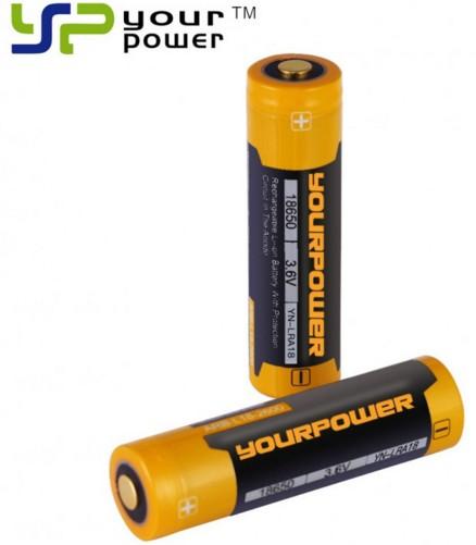 18650锂电池3500MAH大容量大功率正极保护强光手电筒专用