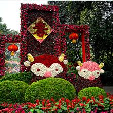 专业定制大型立体景观花雕,创意节庆主题广场雕塑图片