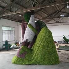 贵州创意仿真绿雕造型人物造型定制图片