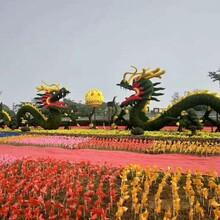 中国梦创意绿雕造型笼子绿雕熊猫造型绿雕图片