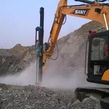 用挖机改装液压钻机的厂家YD6O大笨象挖改液压钻图片