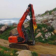 挖机岩石打孔挖改钻机怀仁县挖改凿岩机维护成本图片