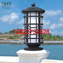 中式压铸铝柱头灯房地产售楼部矮柱灯特色定制仿云石草地灯图片