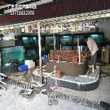 廣州定做超市魚池 水產店制冷魚池圖片