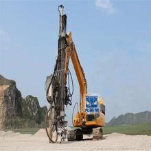 挖掘机改装的钻孔机钻机要多少钱GHB大笨象挖机改装钻机图片