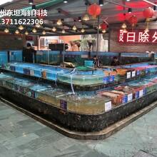 廣州花都玻璃海鮮池定制 海鮮魚缸 梯形魚池土建魚池圖片