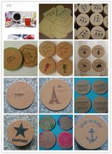 广州市软木垫带logo带图案创意软木垫图片