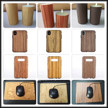 厂家现货供应枫木木纹皮-胡桃木木纹纸-檀香木纹布-竹纹