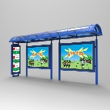 南京公交候車亭不銹鋼公交候車亭圖片