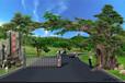 张家口假树门口制作-张家口水泥塑树施工(天成怡景)