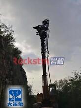 福州长乐挖掘机改装钻机潜孔钻凿岩机钻孔效率快图片