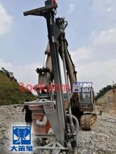 小型挖掘机改装的潜孔钻机挖机改装的潜孔钻深圳大笨象牌500图片