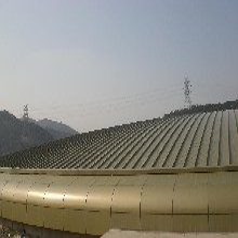 长治扇形弯弧铝镁锰板YX65-430型 可加工定制图片