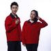 JINYT-8801200定制贵州工作服红色涤棉工程服拉链袋耐磨耐穿单层春秋装工程套装