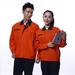 JINYT-8801201定制贵州工作服橙色涤棉工程服拉链袋耐磨耐穿单层春秋装工程套装