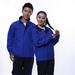 JINYT-8801402定制贵州工作服宝蓝色涤棉工程服拉链袋耐磨耐穿单层春秋装工程套装