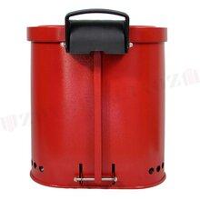 35L防火垃圾桶红色油污废品桶众御防火垃圾桶